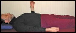 Lying Meditation Arm Up